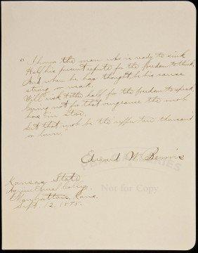 23: Autograph Quotation, signed Edward W. Bemis