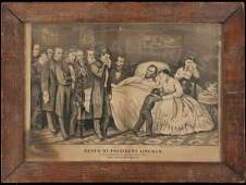 94 Currier  Ives litho of Lincolns Death