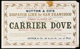 192 Clipper Ship Card for Carrier Dove