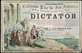200 Clipper Ship Card for Dictator by Nesbitt