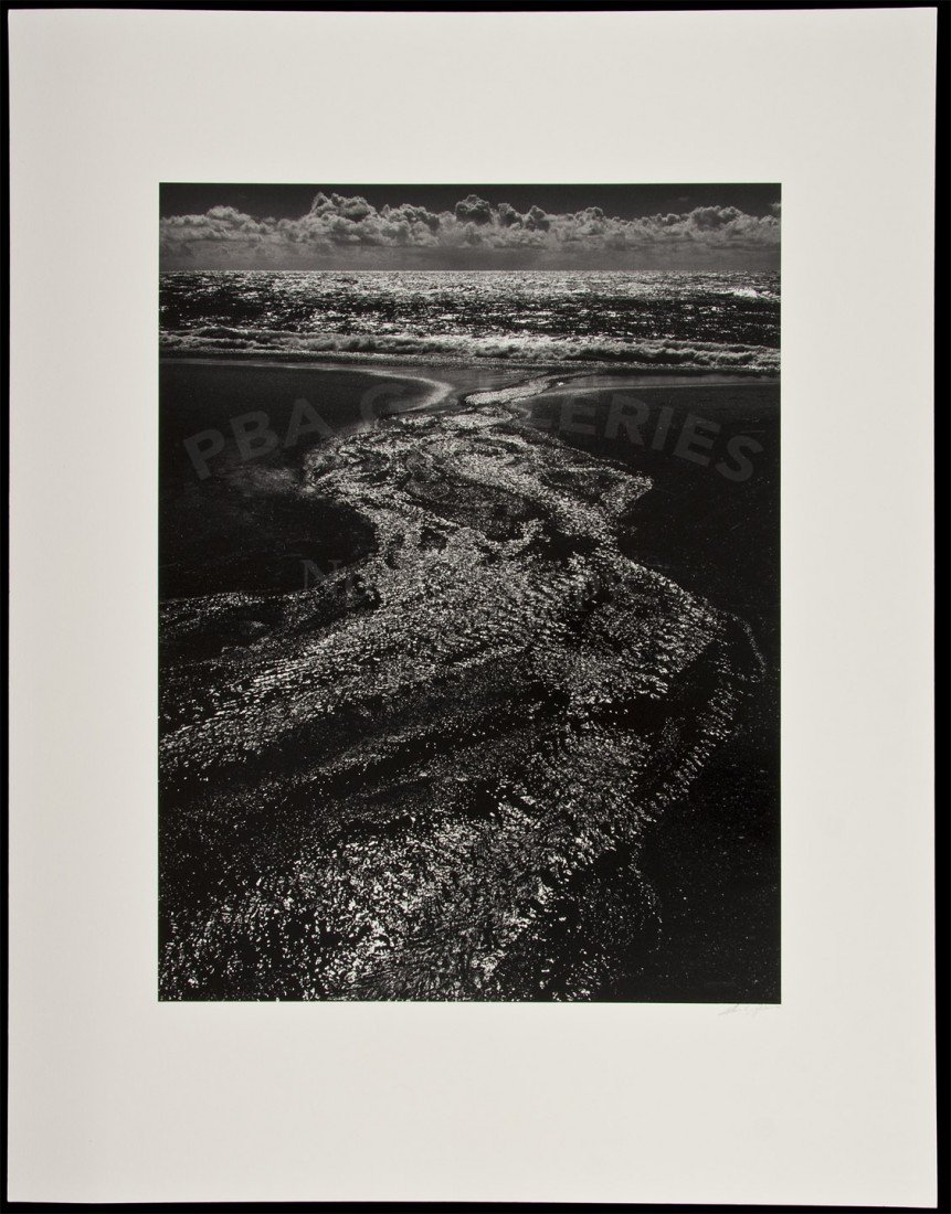 3: Ansel Adams photo of Rodeo Lagoon signed