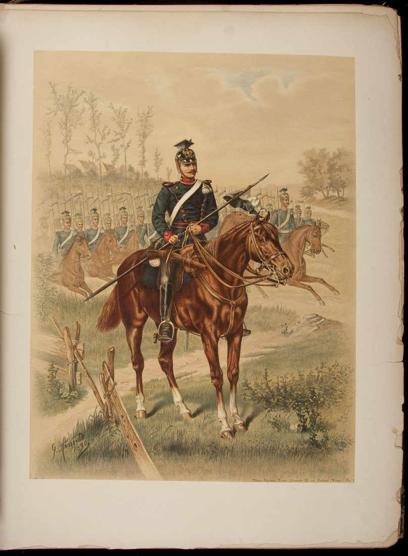 13: Color lithos of German Military by Arnould