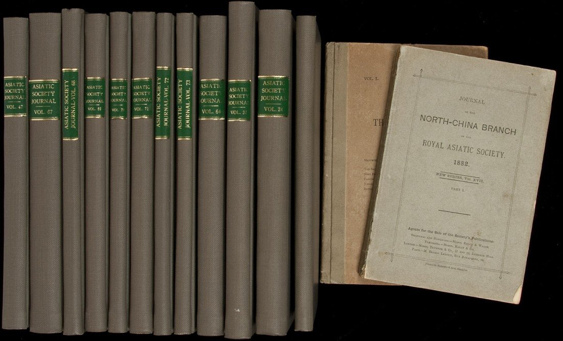 18: 41 vols. Journal Royal Asiatic Society