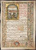 illuminated leaf from a manuscript antiphonal