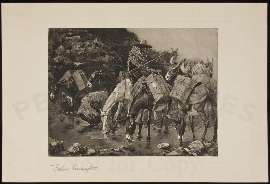 157: Frederic Remington Signed Print