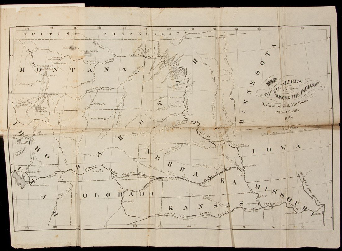10: Henry Boller Among the Indians with map 1868