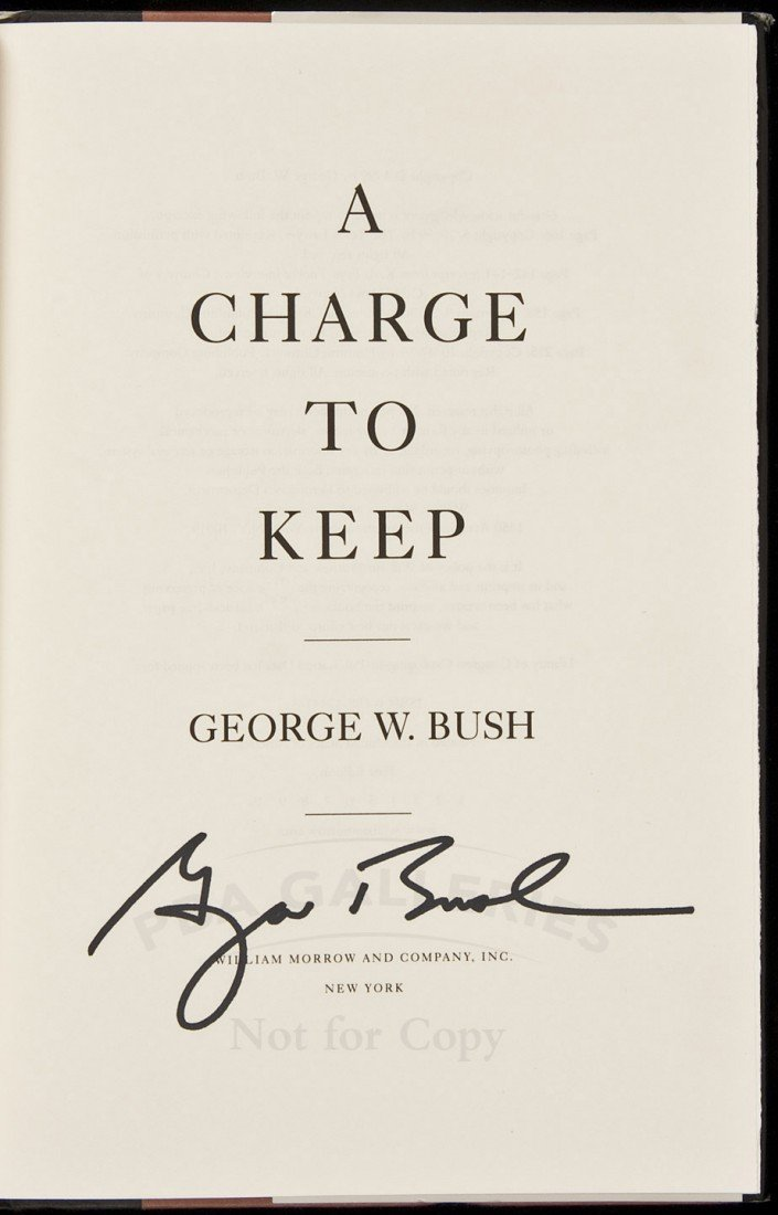 11: George W. Bush A Charge to Keep Signed