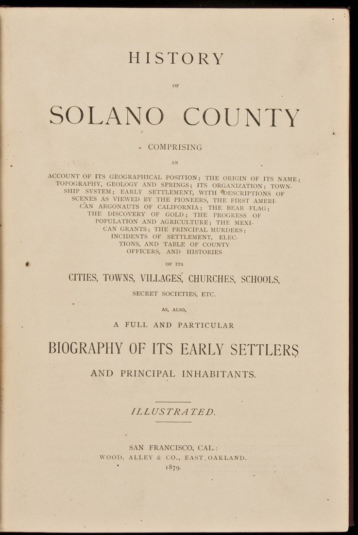 14: History of Solano County California