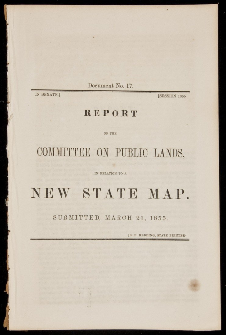 15: Need for new State Map of California 1855