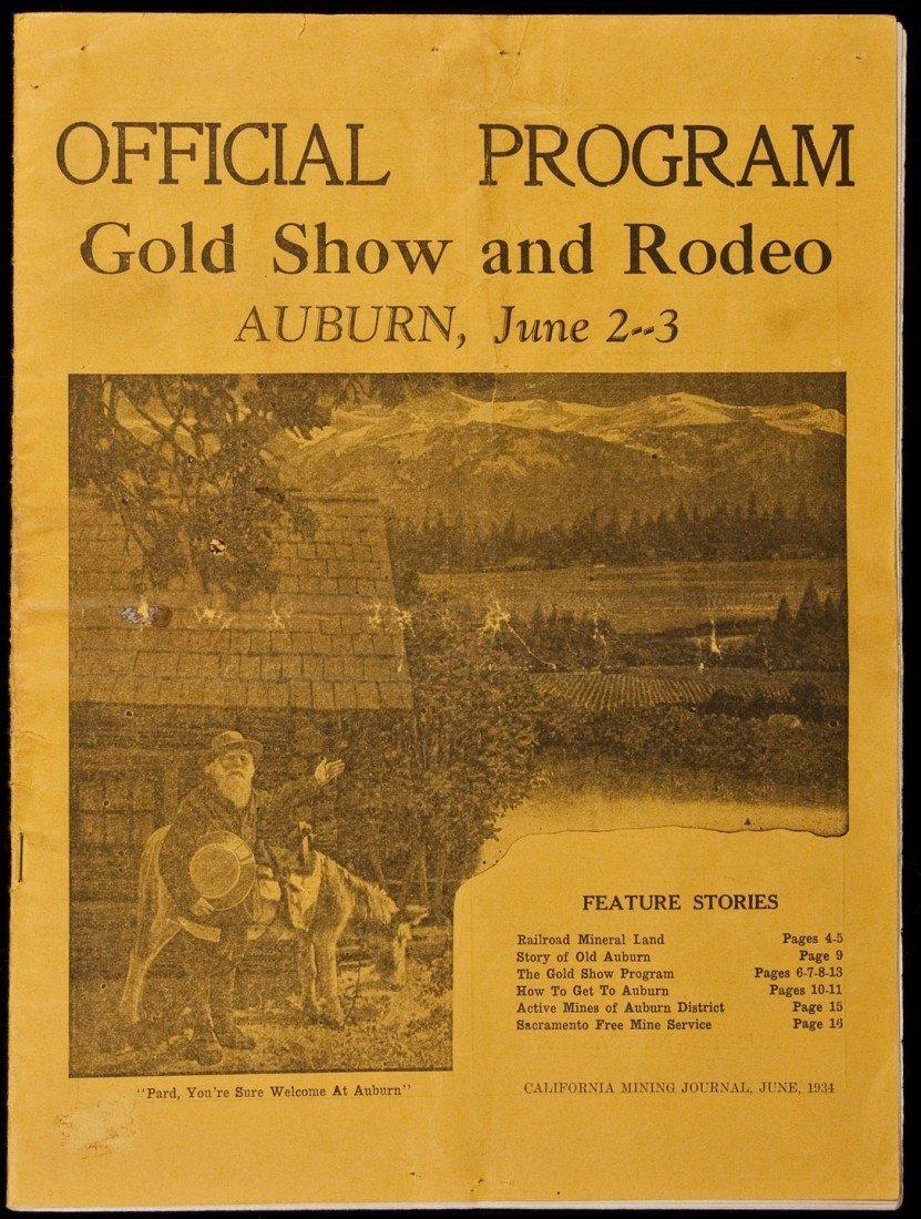 18: Program for Auburn Cal. Gold Show 1934