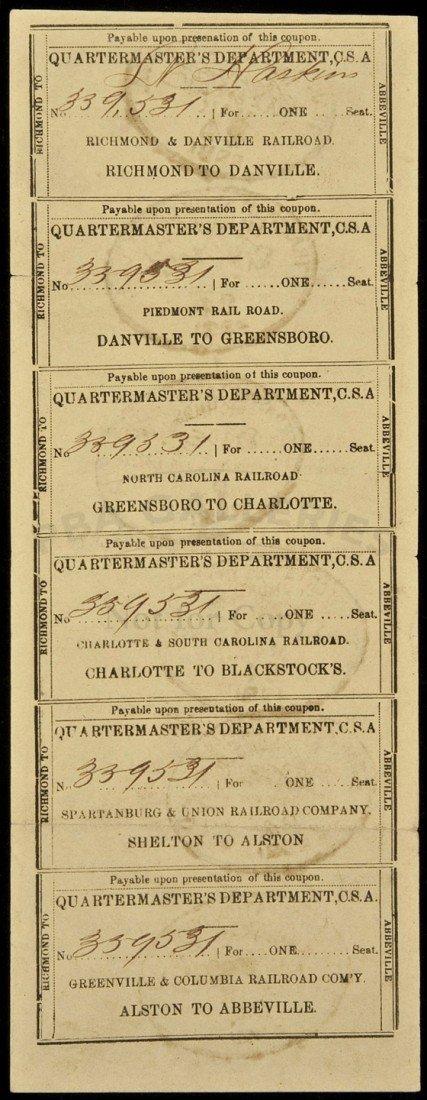 33: Confederate Railroad Passes Richmond to Abbeville