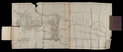 208 Stansbury Utah Report with 2 folding maps 1852