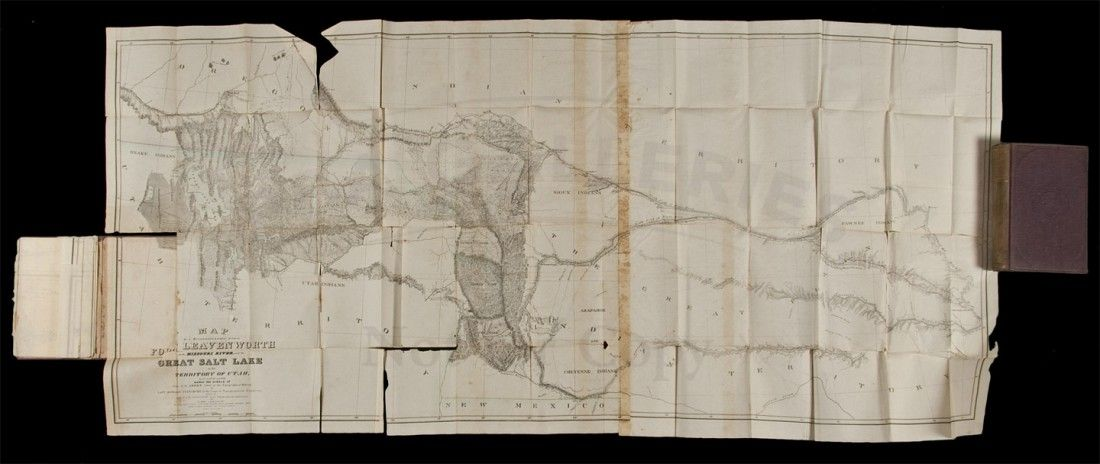 Stansbury Utah Report with 2 folding maps 1852
