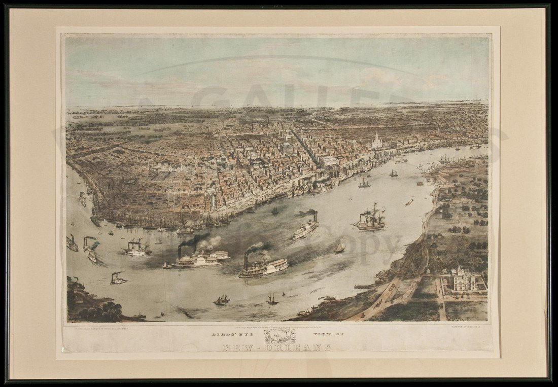 257: Rare Bachman View of New Orleans 1851