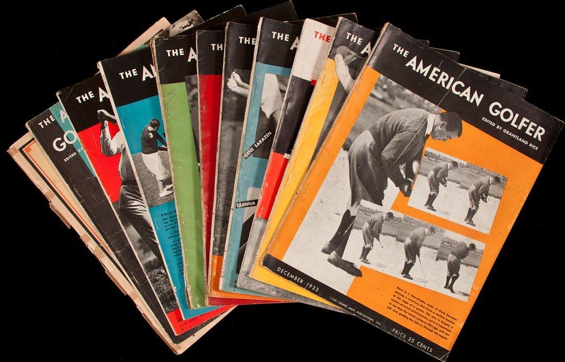 5: American Golfer magazine 75 issues 1921-35