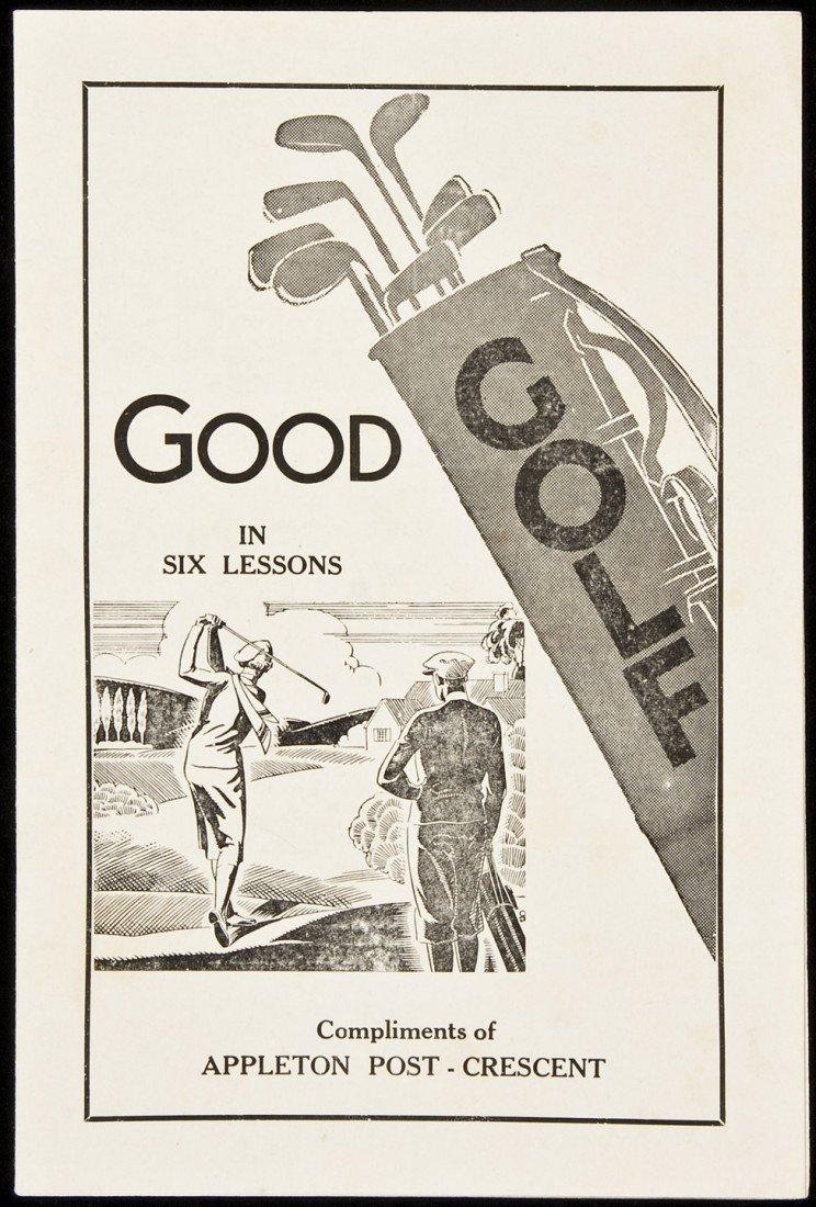 10: Good Golf in Six Lessons 1935 Appleton Post bklet