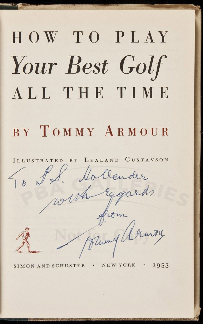 11: Tommy Armour, How to Play...Best Golf, Signed