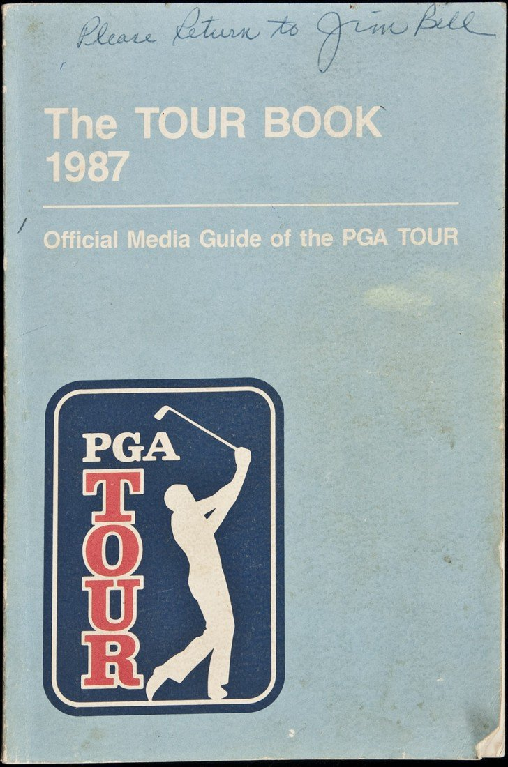 12: Official PGA Tour Book 1987 - Signed by golfers