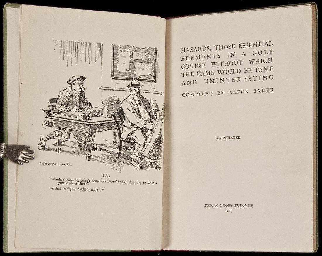 15: Aleck Bauer, Hazards, 1913, First Edition. Rare!