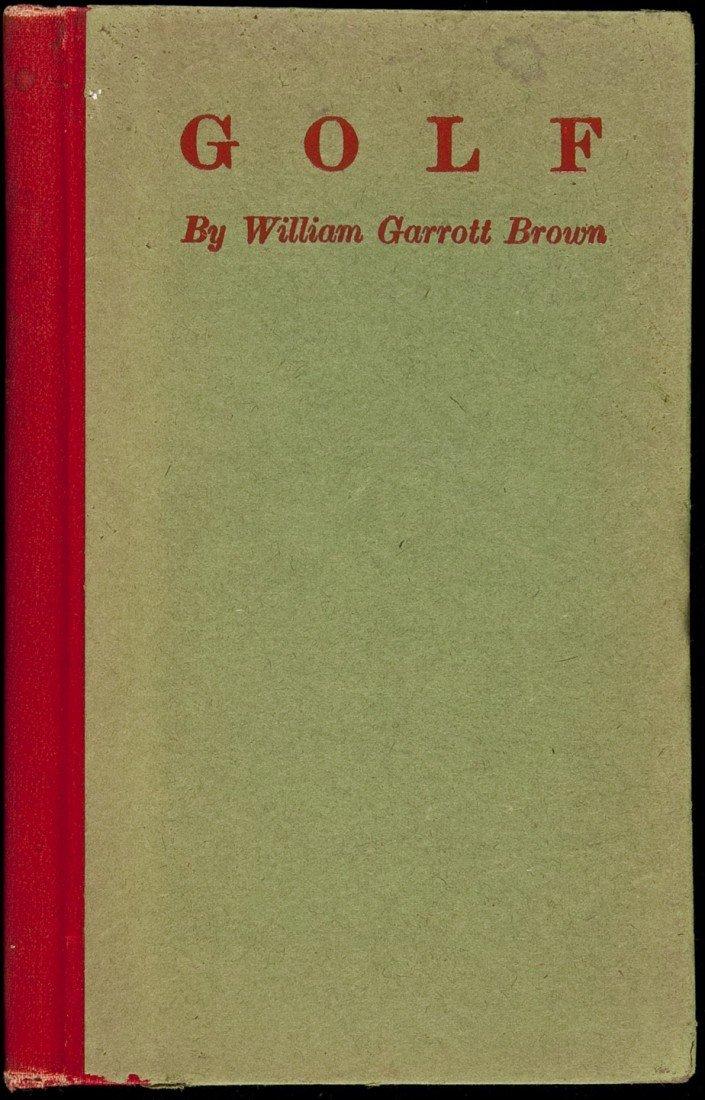 19: William Garrott Brown Golf First Edition