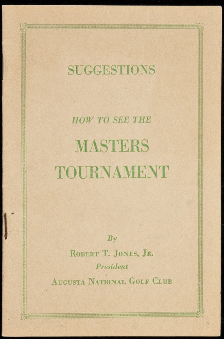 124: How to See the Masters Tournament by Jones