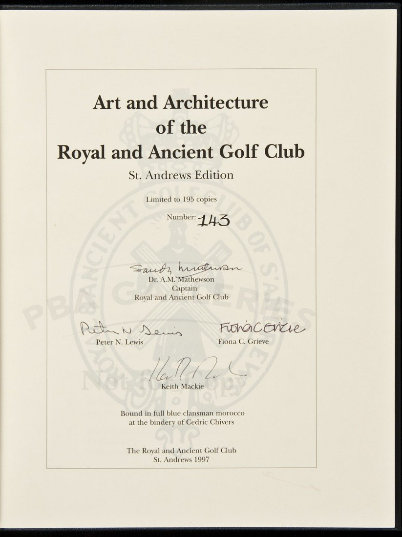 136: Art & Architecture Royal & Ancient Golf 1/195 sgd