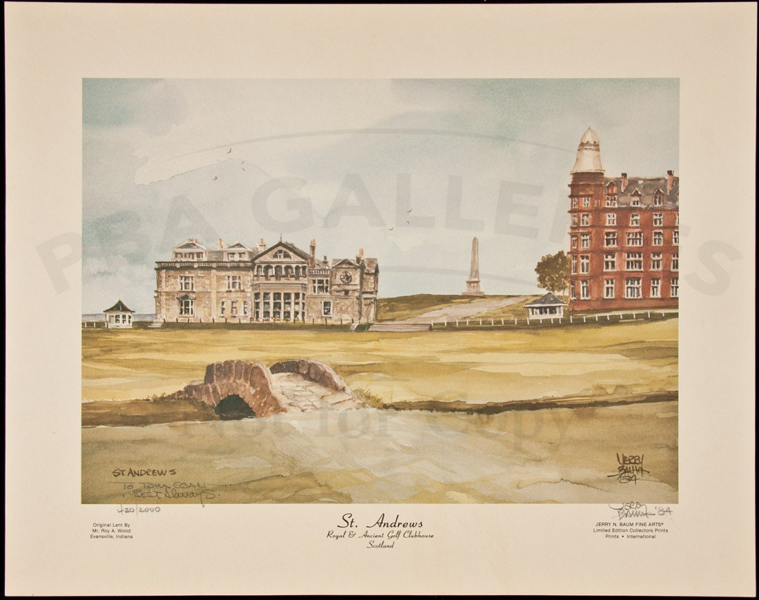 268: Jerry Baum print of St. Andrews Clubhouse