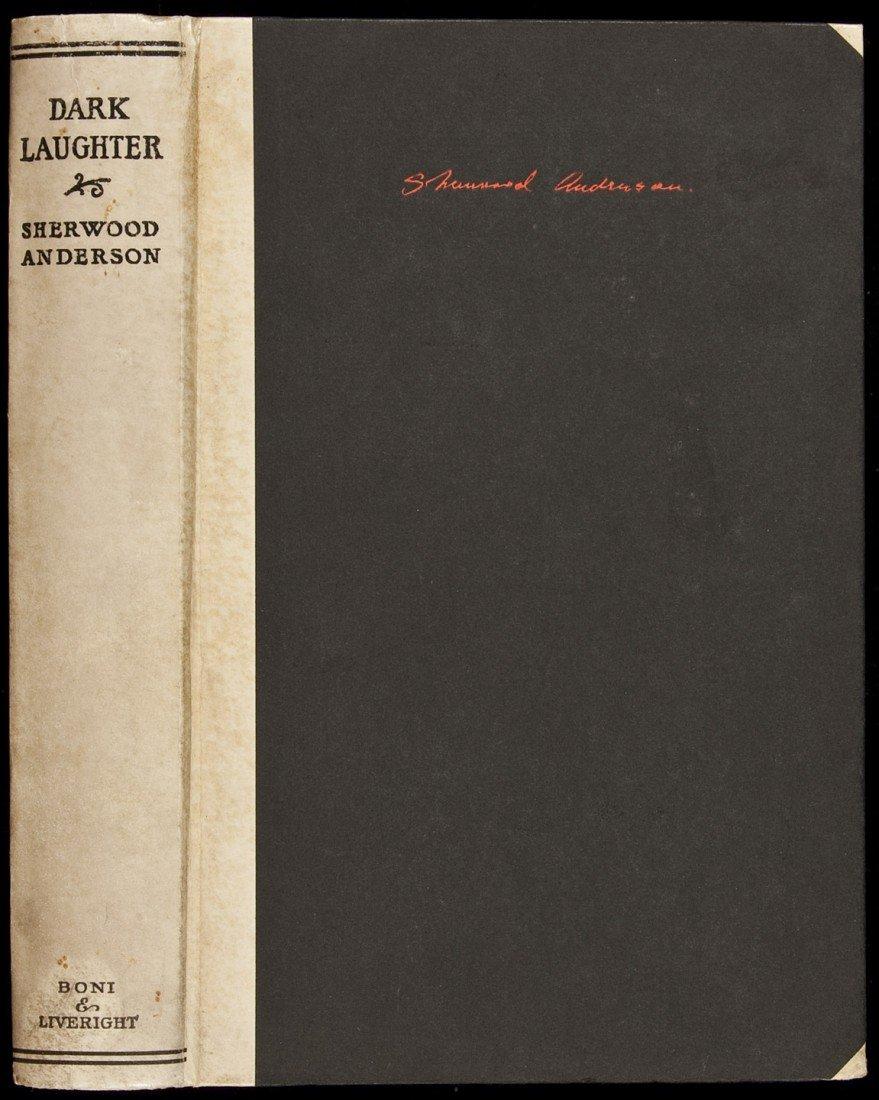 1: Sherwood Anderson Dark Laughter sgd. ltd.