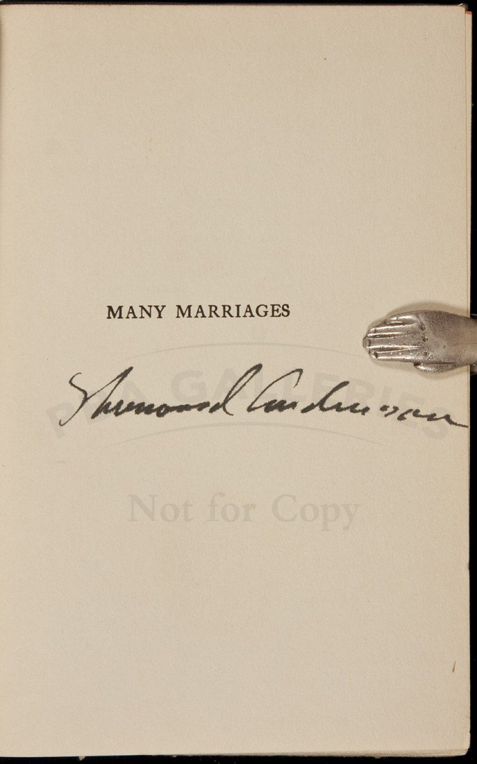 2: Sherwood Anderson Many Marriages signed dj