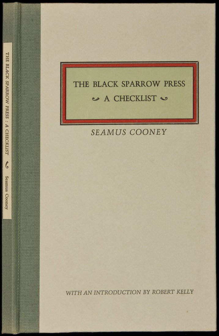 4: Black Sparrow Press Checklist 1971