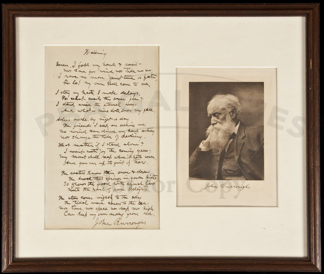 39: manuscript poem by John Burroughs