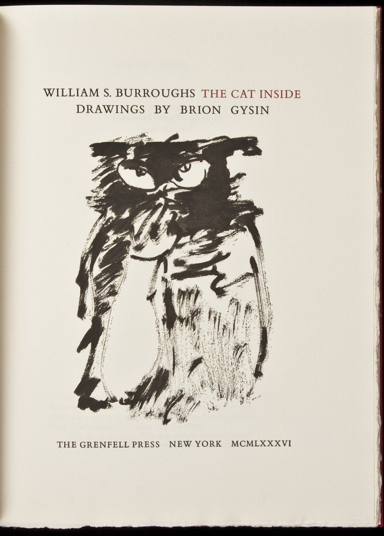 40: William S. Burroughs The Cat Inside 1/133 copies