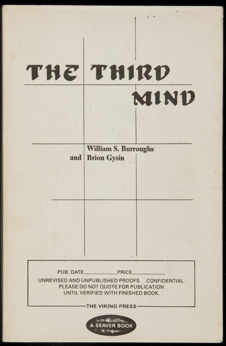 45: Burroughs and Gysin The Third Mind Proofs