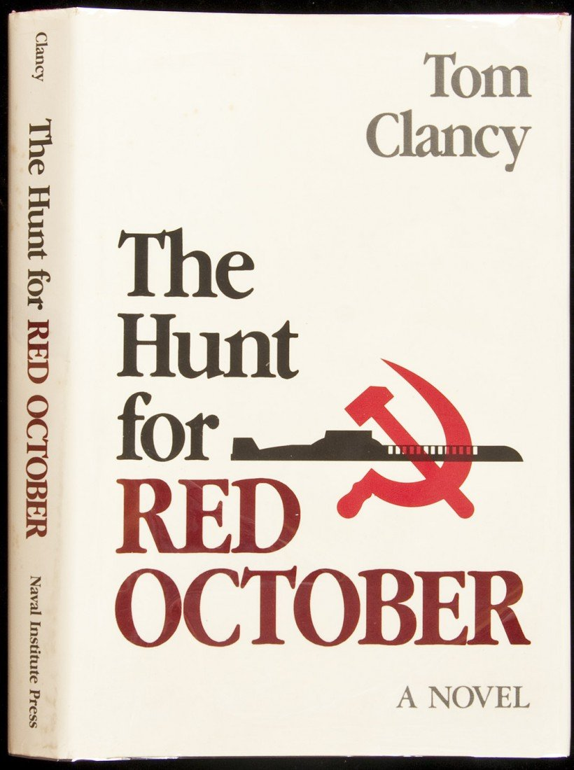 50: Tom Clancy Hunt for Red October 1st edition