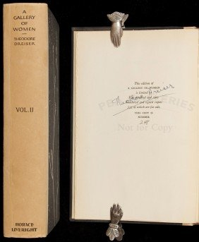 Theodore Dreiser A Gallery Of Women Signed Ltd Ed