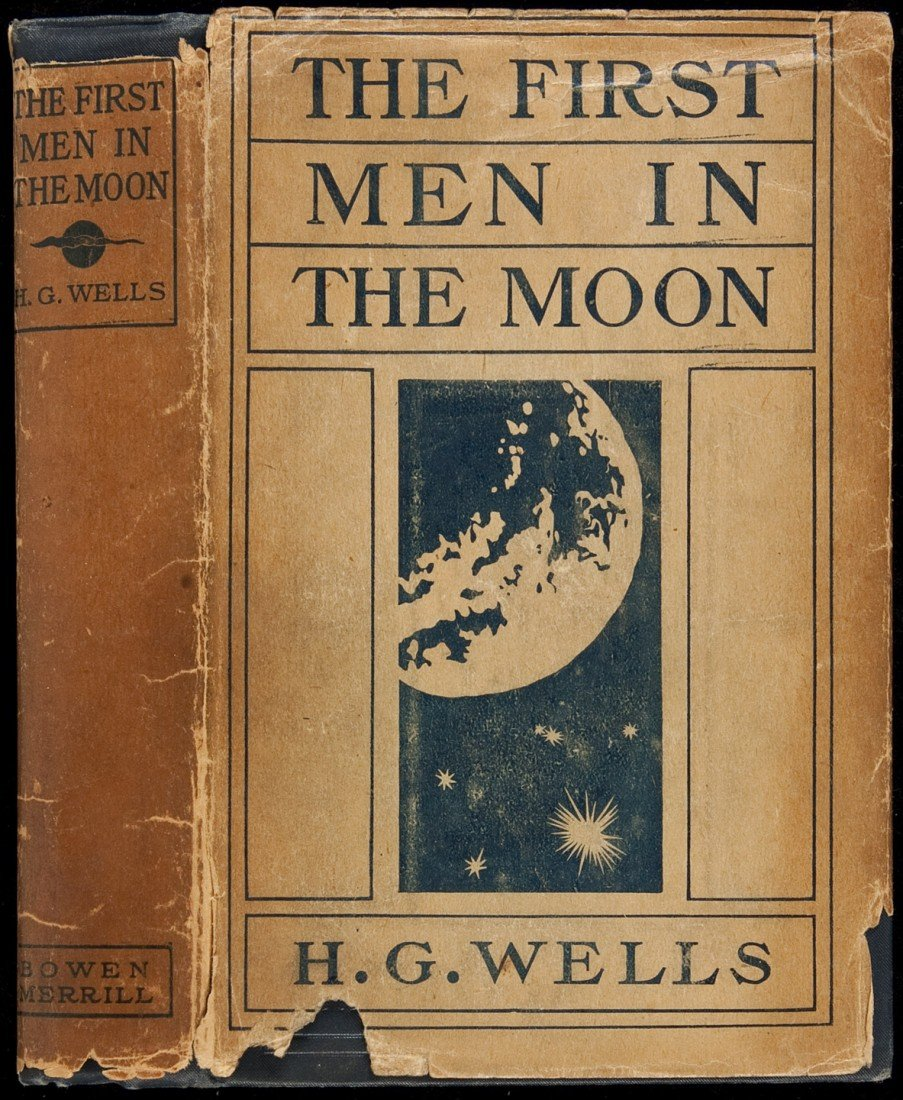 221: H.G. Wells' First Men in the Moon in rare jacket