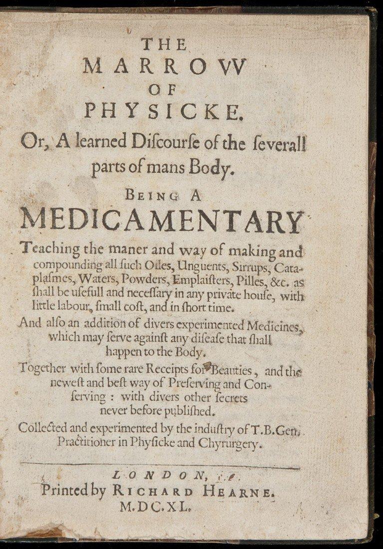 312: Rare medical work 1640