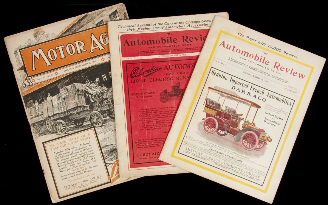 18: Three early automobile-themed magazines