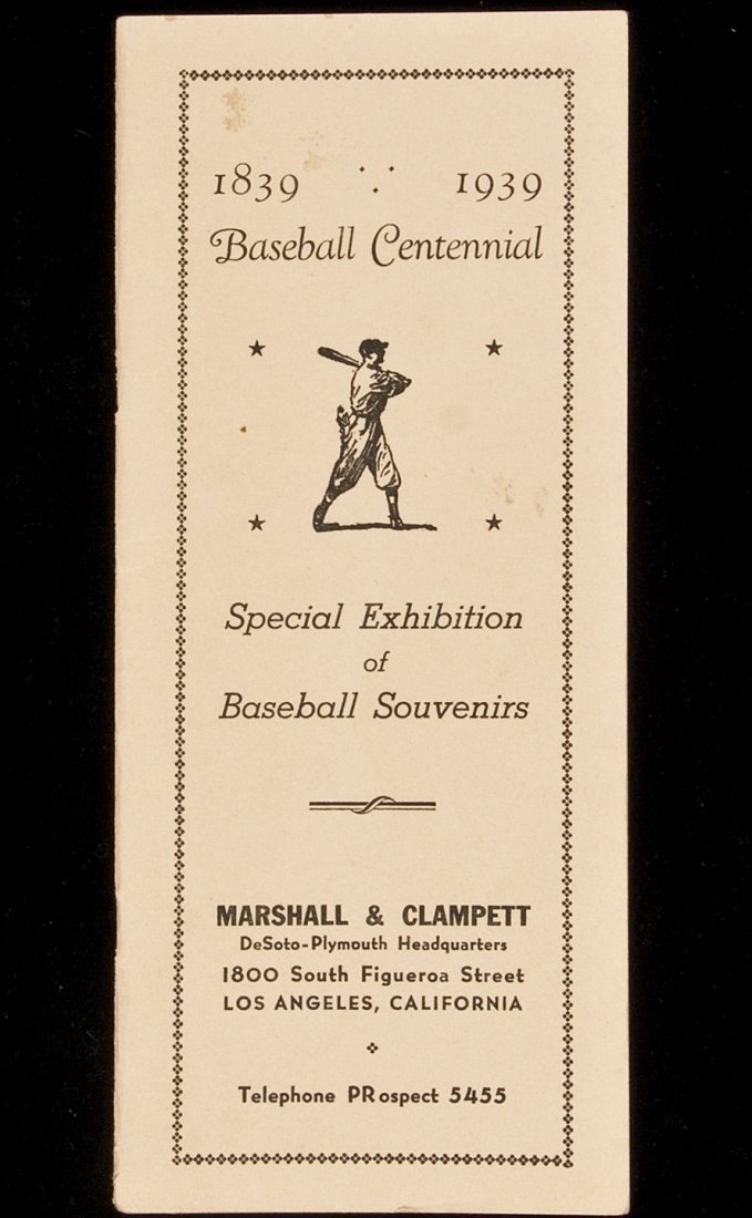 23: Centennial exhibition of baseball souvenirs in LA