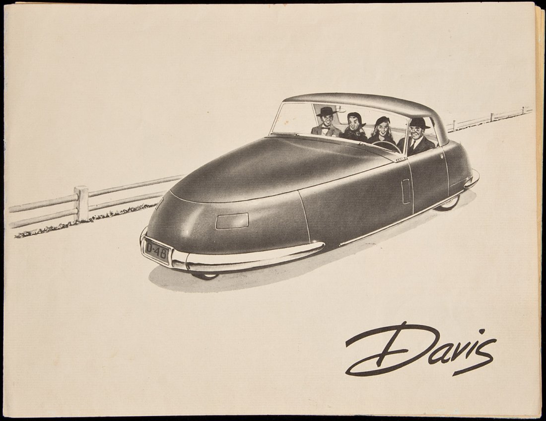 12: Brochures for rare Davis 3-wheel vehicle