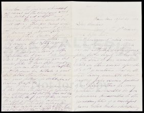 Letter From A Hawaiian Sugar Platation In 1880