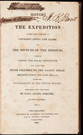 History Of The Lewis & Clark Expedition 1814