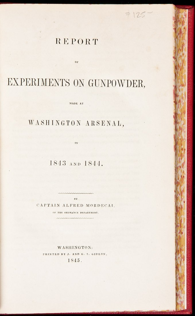 122: Report of Experiments on Gunpowder