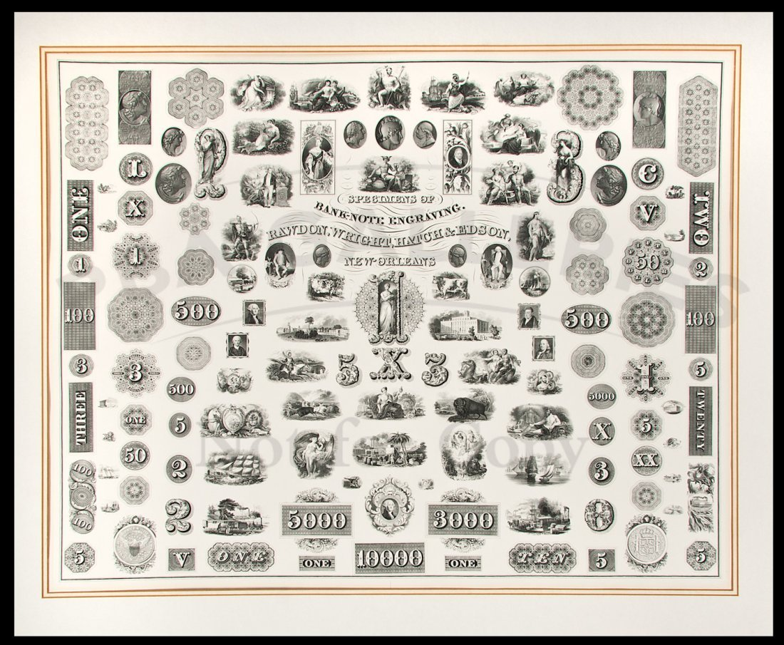 136: Specimens of Bank-Note Engraving, 1/998