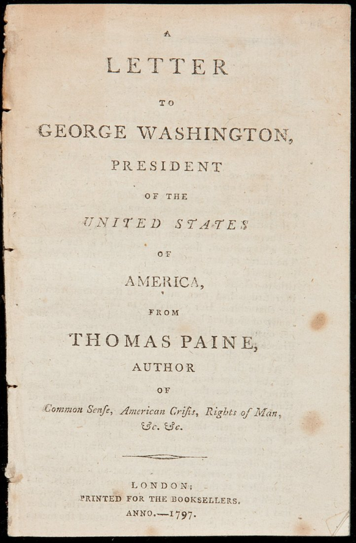 140: A Letter to George Washington by Thomas Paine