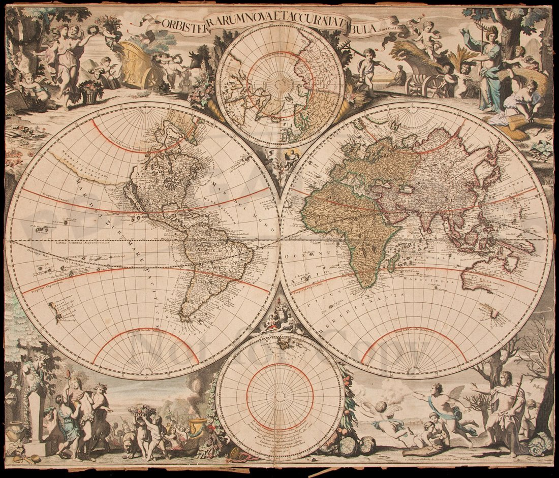 330: Valk map of the World, California an island