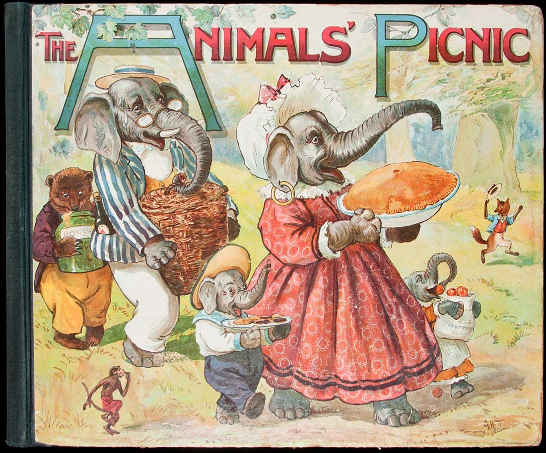 17: Animals' Picnic with Chromolithograph Plates