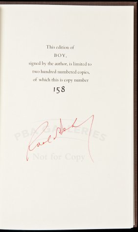 Boy: Tales Of Childhood Signed Lmtd Ed