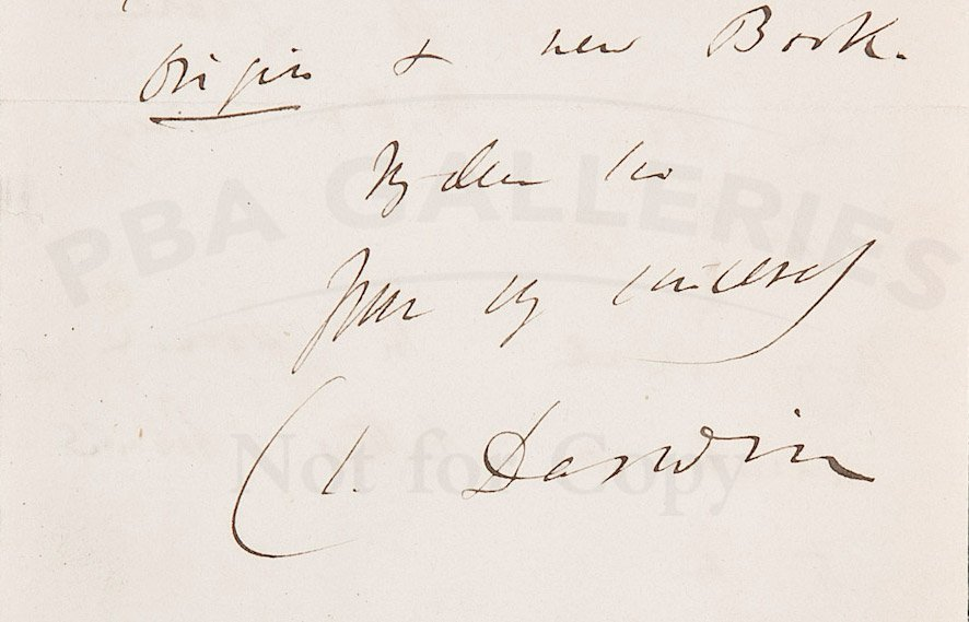 50: Autograph Letter Signed by Charles Darwin