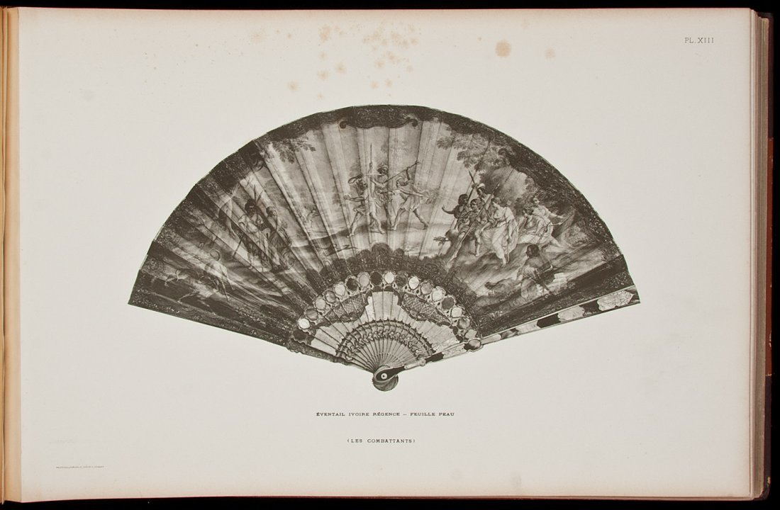 66: Lovely plates of French antique fans